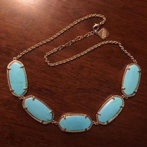 Kendra Scott turquoise and gold necklace